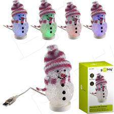 Mini Schneemann USB LED fabrig Leuchte Weihnachten Christmas Deko Dekorativer M6