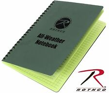 Rothco All Weather Waterproof Notebook - 48 Sheets Camping & Hiking Note Book