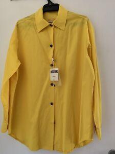 Moschino Canary Yellow Cotton Shirt Size 12