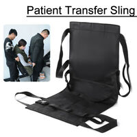 Patient Wheelchair Seat Belt Lift Transfer Sling Stair Slide Board Chair Bed Car