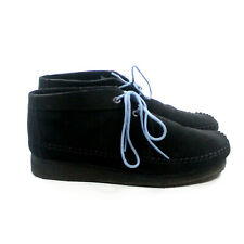 Clarks Originals Weaverboot Chukka Boots Black Suede Men's Size 11.5 M