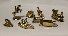 1998 Monopoly Deluxe Edition Replacement Set of 8 Tokens - Gold Tone