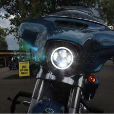 "7"" Yamaha Road Star LED Headlight with White Halo Ring DRL Light Bulb Roadstar"