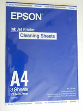 15 x stampante a inchiostro carta pulizia EPSON cleaning sheets a4 MADE IN JAPAN NUOVO