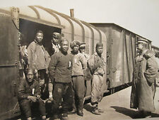 ANTIQUE 1920s CHINA CHINESE TRAIN RR TRACKS WORKERS OCCUPATIONAL SNAPSHOT PHOTO