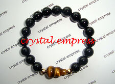 Feng Shui - Black Onyx with Tiger Eye Wu Lou Kids Bracelet