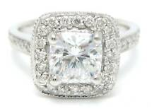 CUSHION CUT DIAMOND ENGAGEMENT RING ANTIQUE STYLE CERTIFIED EGL USA