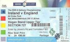 More details for ireland v england 28 feb 2009 rugby ticket, dublin grand slam season ireland