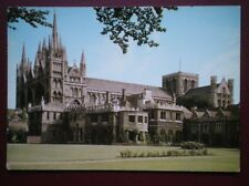 POSTCARD CAMBRIDGESHIRE PETERBOROUGH CATHEDRAL & THE BISHOP'S PALACE
