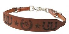 """Showman """"QUARTER HORSE"""" PONY SIZE Leather Branded Wither Strap! HORSE TACK!"""