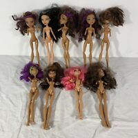 Monster High Doll Lot of 9 For OOAK Missing Limbs Arms Legs Parts See Photos