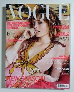 Vogue Magazine UK Edie Campbell cover March 2016   Mint