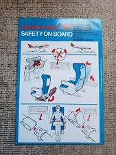 Safety Card Qantas Airlines 747B