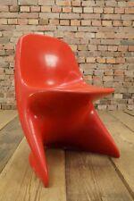Space-Age Design Kinderstuhl 70er Vintage Stuhl CASALINO I Casala Kinder rot