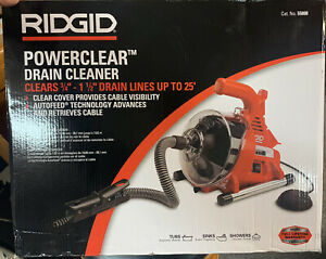 NEW RIDGID POWERCLEAR DRAIN CLEANER CAT NO 55808