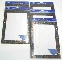 LOT OF 5 PACKS NEW AMSCAN GRADUATION PARTY LETTERHEAD PAPER 125 SHEETS 410033