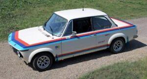 BMW 2002 Side, hood, trunk decals