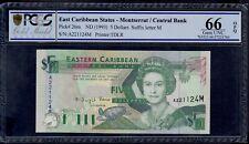EAST CARIBBEAN STATES 5 DOLLARS (1993) MONTSERRAT PICK # 26m PCGS 66 GEM UNC OPQ