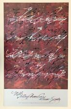 MARCUS UZILEVSKY,'CRIMSON SONG,1984',RARE 1984 EXHIBITION PRINT