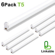 Hykolity T5 4FT 6 Pack Linkable LED Shop Light 22W Utility Garage Ceiling Lamp