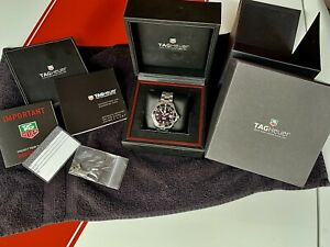 Men's Tag Heuer Aquaracer Calibre 5 Automatic Watch Box and Papers!!! Nice!!