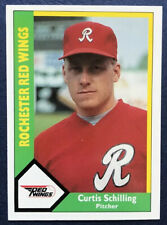 New listing 1990 CMC #306 - CURT SCHILLING w/ Rochester Red Wings - BASEBALL CARD