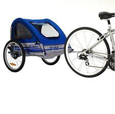 Schwinn Trailblazer Bicycle Bike Trailer Double W Stroller Kit Blue Gray