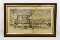 Rare Antique 19th C Department of Agriculture Washington DC Engraving Print