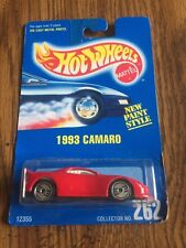 Hot Wheels  Blue Card  •  1993 Camaro   •  collector # 262   red new  1991