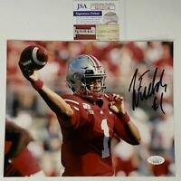 Autographed/Signed JUSTIN FIELDS Ohio State Buckeyes 8x10 Photo JSA COA Auto #3