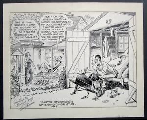 1945 TOMMY THOMPSON original art CARTOON drawing BRADLEY KELLY KFS  Power House