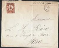 HAITI  OLD  LETTER   TO LE HAVRE VIA NEW YORK   YEAR 1906