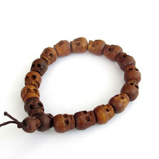 12mm Jujube Wood Skull Tibet Buddhist Prayer Beads Mala Bracelet