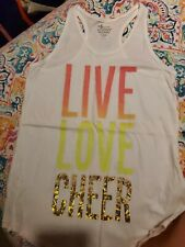 Girl's Old Navy Cotton Tank Top - Live Love Cheer - Size XL 14 EUC