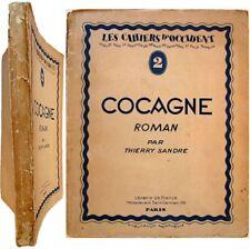 Cocagne 1927 Thierry Sandre François Quelvée Cahiers d'Occident n°2 Massis Moore