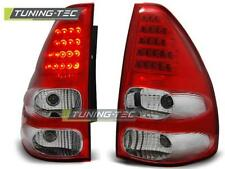 FANALI POSTERIORI TOYOTA LAND CRUISER 120 03-09 RED WHITE LED LOOK*1908