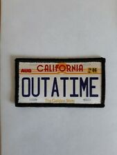 """3"""" Back to the Future Velorian Plate Sublimation Iron Or Sew On Patch Badge"""