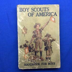 Boy Scouts Of America Handbook For Boys  December 1917 Linen Cover