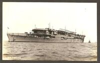 REAL-PHOTO POSTCARD:  H.M.S. FURIOUS - BRITISH NAVY AIRCRAFT CARRIER - Unused