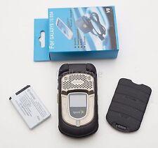 Used Kyocera DuraXT E4277 Black Sprint RingPlus Flip Cellular Phone Rugged