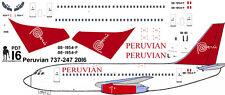 Peruvian Boeing 737-200 decals for Airfix 1/144 kit