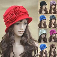 Womens 1920s Style Look 100% Wool Beret Beanie Cloche Bucket Winter Hat A287