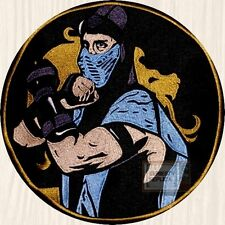 Mortal Kombat Sub-zero Character Embroidered Big Patch Ninja MK9 Scorpion PS