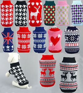 2016 Pet Dog Cat Sweater Puppy Knit Jacket Clothes Apparel For Small Medium Dogs
