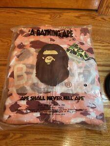 Bape Bathing Ape Full Zip Hoodie Pink Camo - In Bag
