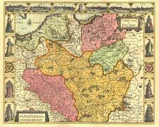 Poland Polski Replica J Speed ALL HAND COLOURED 17c. Old Map A UNIQUE GIFT IDEA!