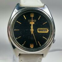 Vintage Seiko Mechanical Automatic Movement Day Date Dial Analog Watch D297