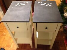 Pair of Hand Painted Bedside Cabinets