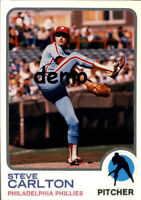 Custom made Topps 1973 Philadelphia Phillies Steve Carlton Baseball card road