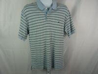 Nautica Mens Striped  Polo Shirt   Size Large